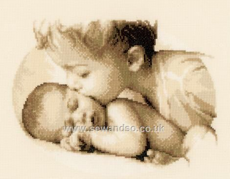 Buy Brotherly Love Cross Stitch Kit Online at www.sewandso.co.uk