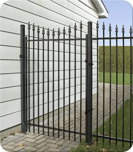Rockefeller (Concave) Iron Walk Gate  Fence-All