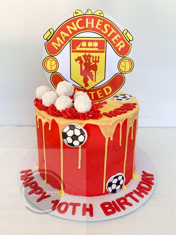manchester united cake in 2020 manchester united cake manchester united birthday cake birthday cake for him manchester united birthday cake