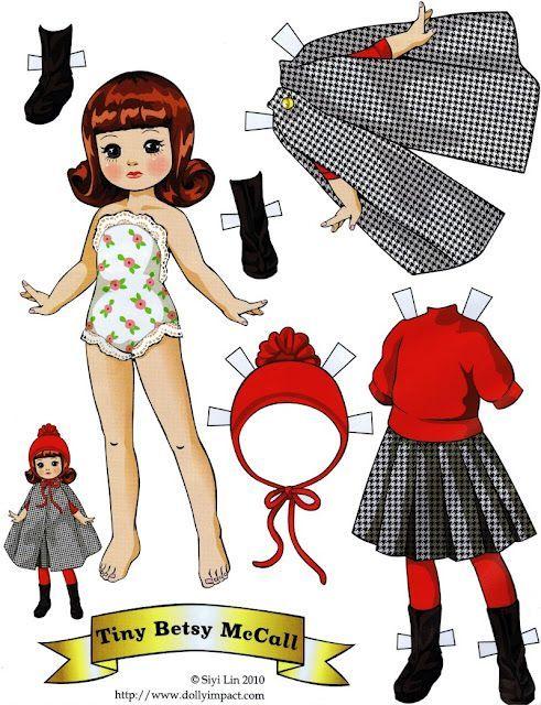 (⑅ ॣ•͈ᴗ•͈ ॣ)♡                                                             ✄Paper Dolls Tiny Betsy McCall: