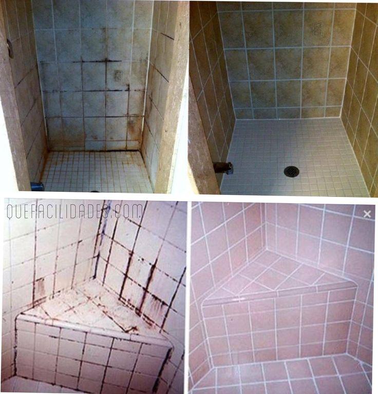 M s de 1000 ideas sobre limpieza de azulejos de ducha en - Limpiar juntas azulejos ducha ...