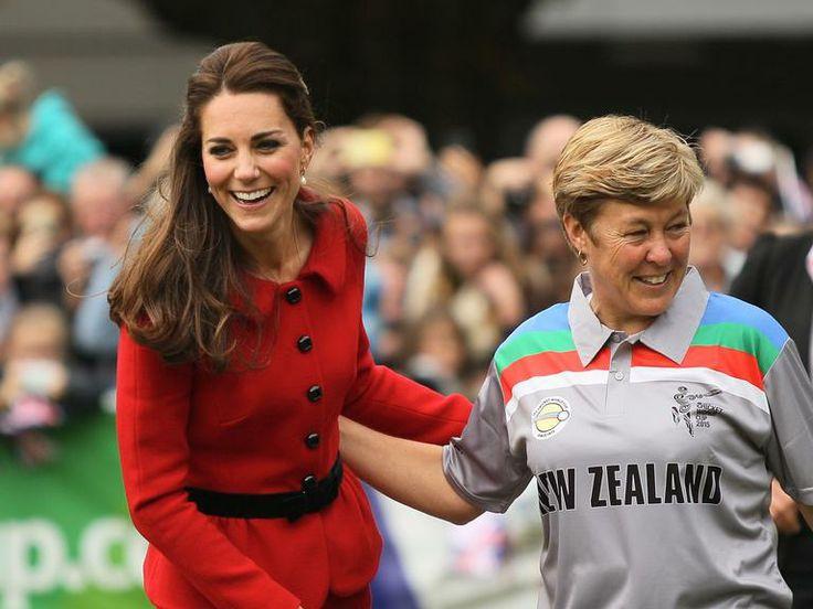 Kate Middleton em jogo de críquete