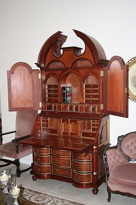 Antique Secretary Desk Copy Over 8 Tall Ebay
