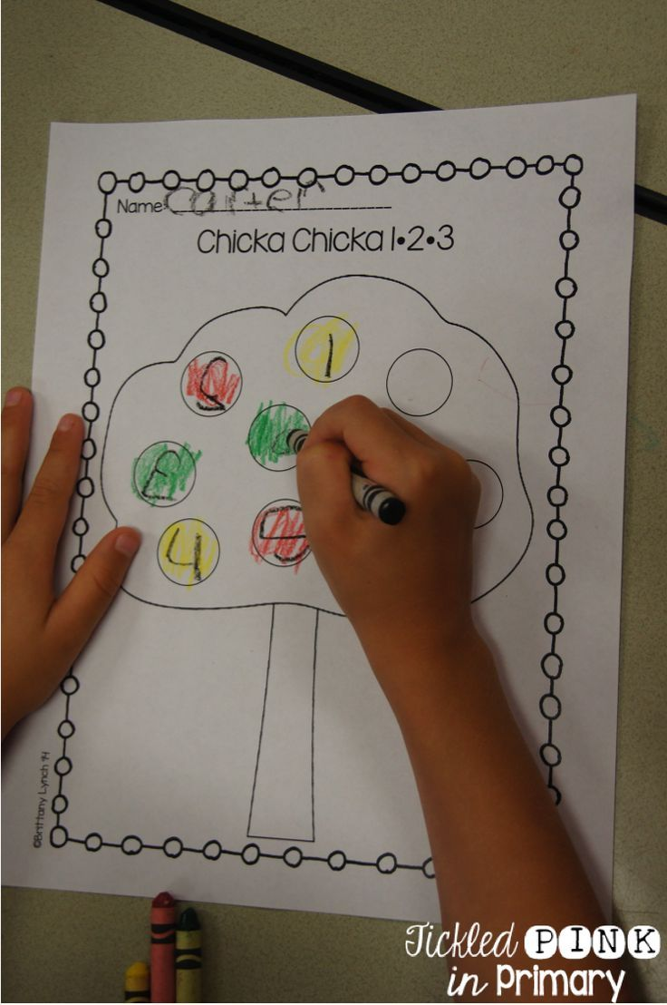 FREE number writing to use with the book Chicka Chicka 1-2-3
