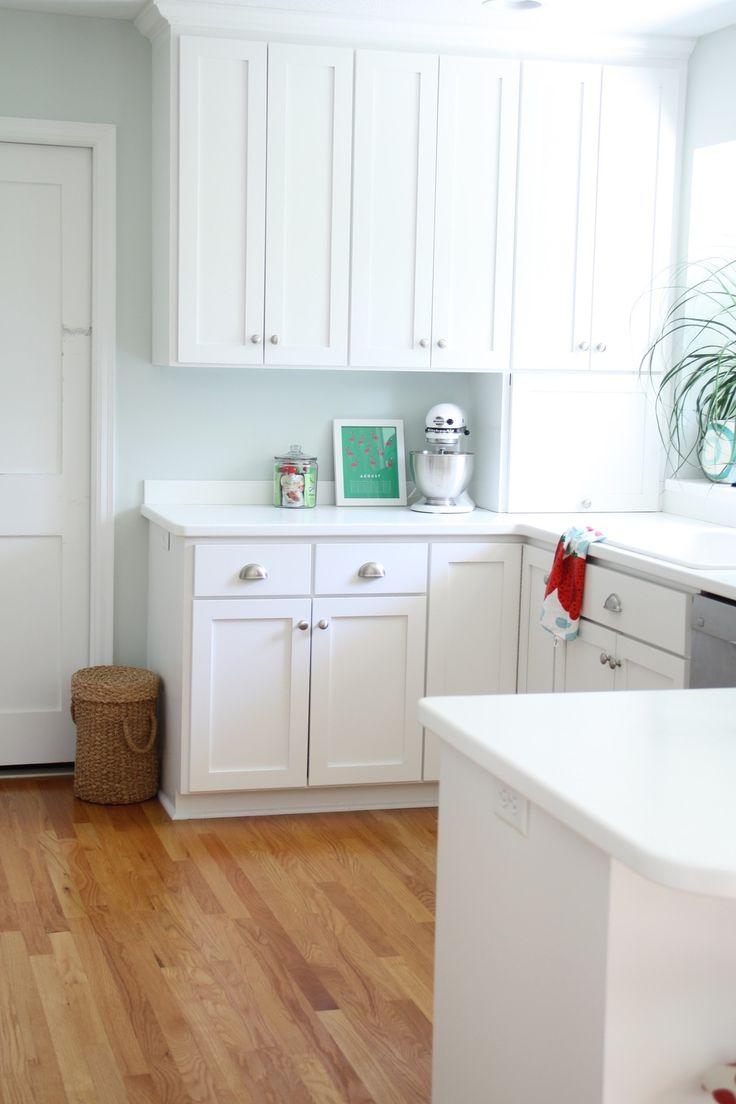 Benjamin Moore Healing Aloe White Kitchen