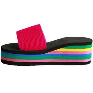 Summer Women Sandal Slippers Platform Wedge Beach Flip Flops High Heel Slippers Beach Shoes
