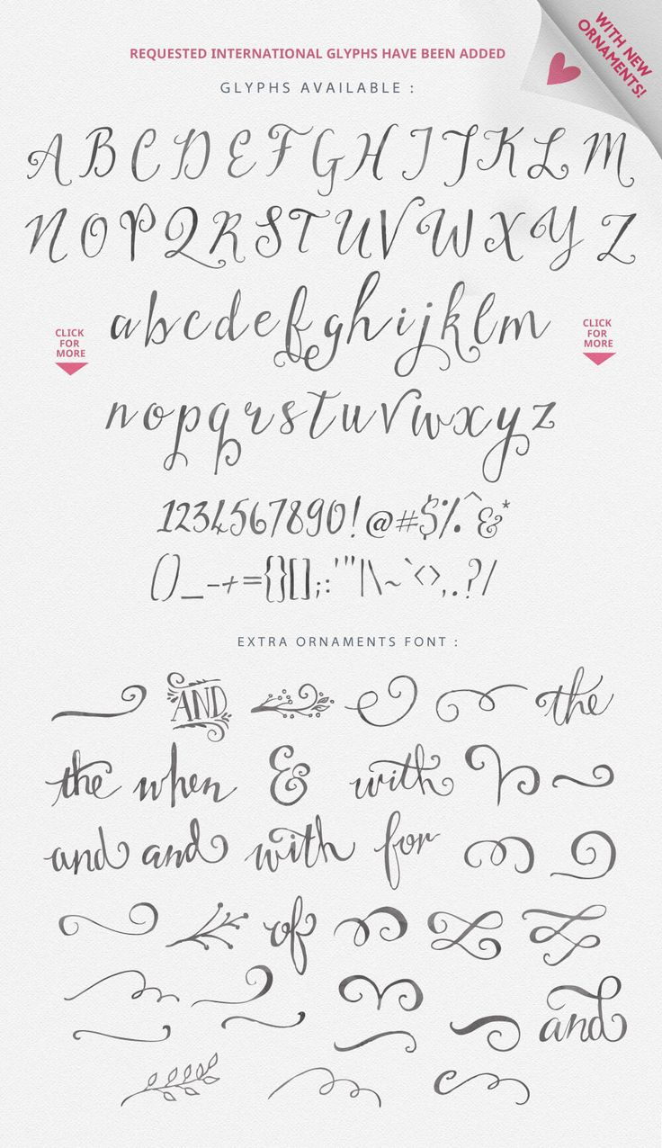 1000 Ideas About Beautiful Handwriting Fonts On Pinterest