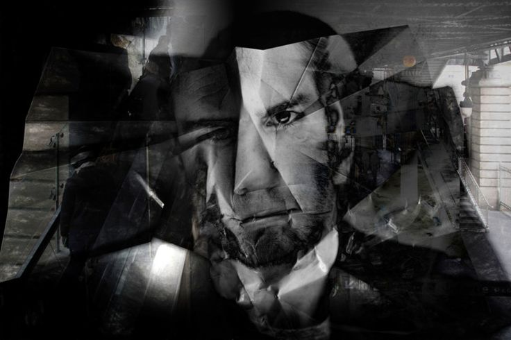 Pli et contreplis - Pierrot le fou - Photographie,  60x40 cm ©2016 par lionel morateur -                                        Papier, Personnes
