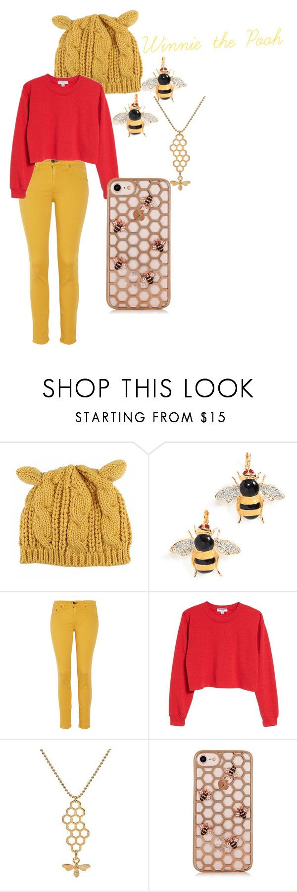 """Winnie the Pooh"" by hopeisobel on Polyvore featuring Kenneth Jay Lane, rag & bone and Sub_Urban Riot"