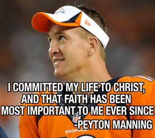 peyton manning - priorities - faith family education, football, in that order