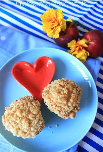 love cooking: Crumble-Muffins alla pesca
