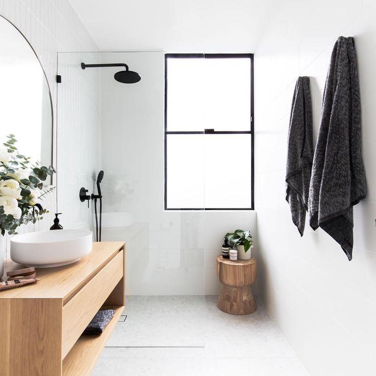 Design white bathroom