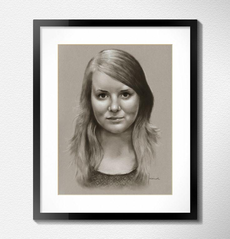 Professional custom handmade girl portrait from photo by Jacek Jaśkowiak PortraitBuy
