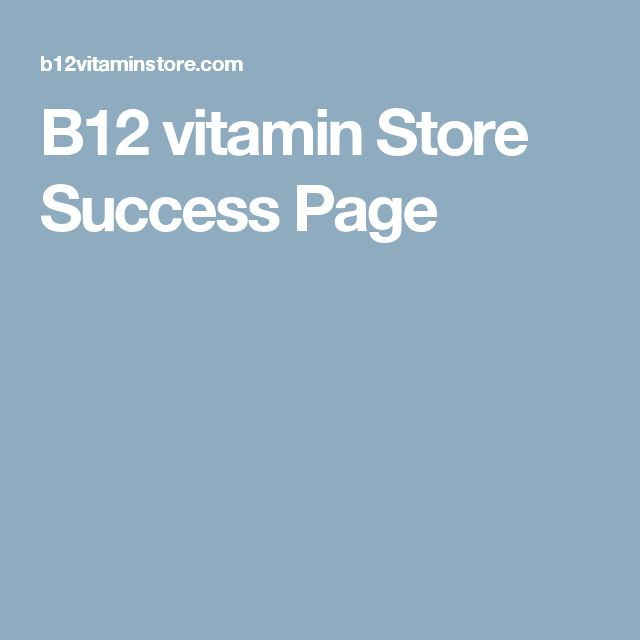 B12 vitamin Store Success Page