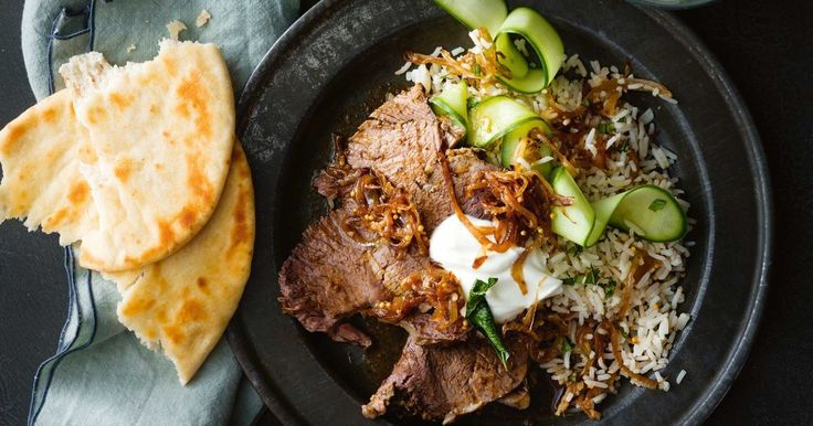 Slow cooked beef with an Indian twist! Picked cucumber rice brings a freshness to really give you a mouthwatering meal.