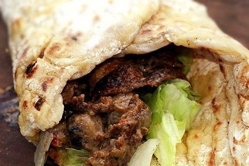 Muurikka – maten & kärleken… Norrlandskebab med nybakat, mjukt tunnbröd och renskav –