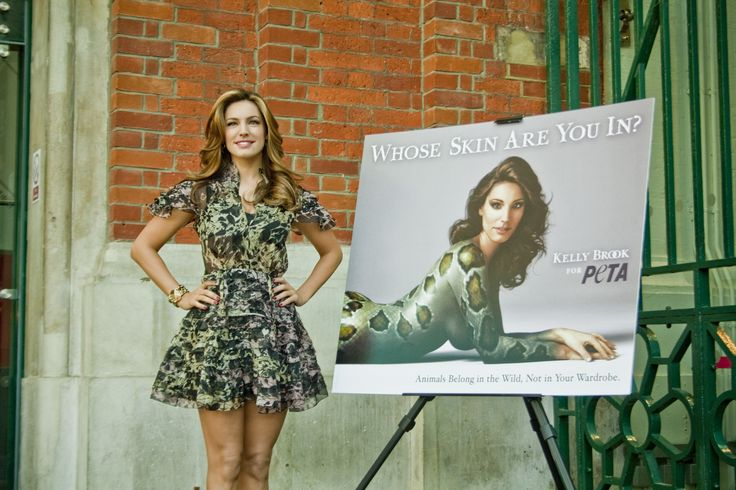 kelly brook whose skin are you in? | PETA launches 'Whose Skin Are You In?' campaign with Kelly Brook