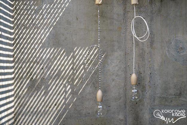 Lampy z serii Loft Eco Line - kolorowe kable