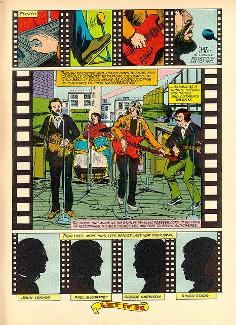 Beatles in Comic Strips edited by journalist and music critic Enzo Gentile Brain Pickings