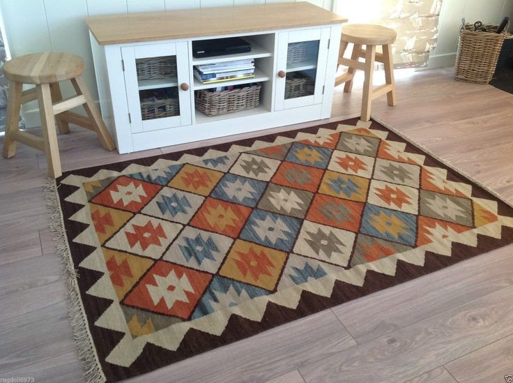 Fair Trade Varkala Indian Fine Woven Wool Kilim