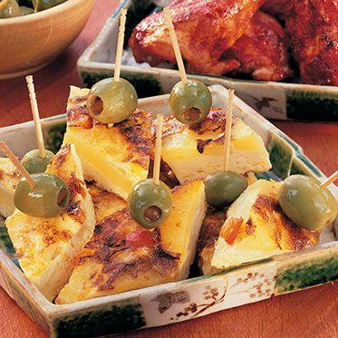 Tortilla-Häppchen für Sektempfang (Tapas Party)
