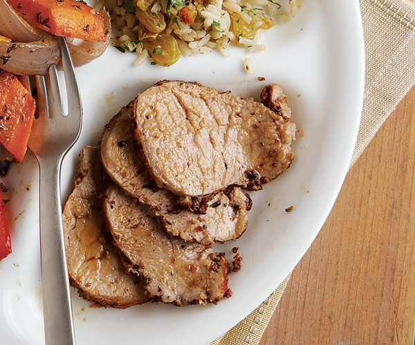 Coriander-Crusted Pork Tenderloin - Substituted bacon fat for olive ...