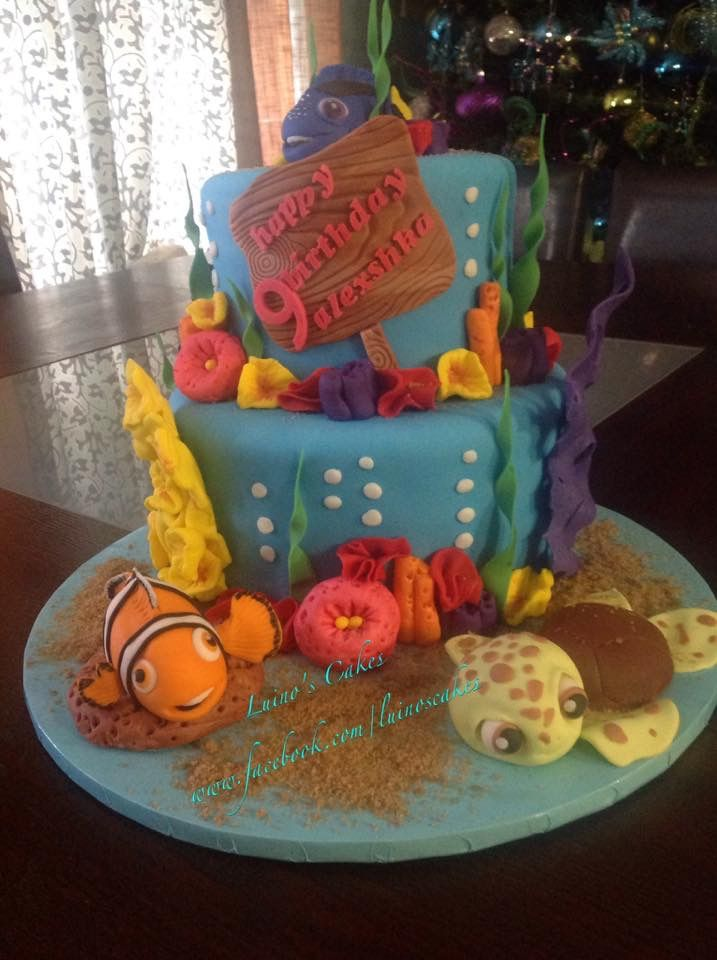 Outstanding Fondant Nemo Characters Birthday Cake Cake Fondant Funny Birthday Cards Online Drosicarndamsfinfo