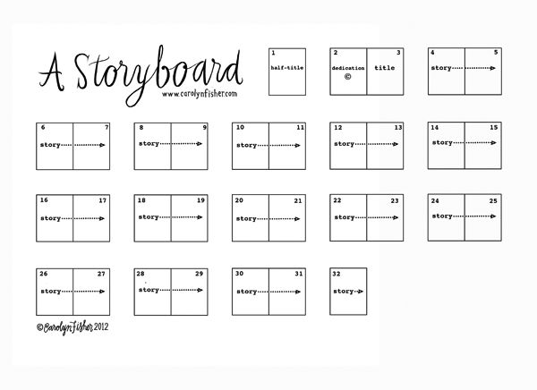 Carolynfisher blog a storyboard authoring for Magazine storyboard template