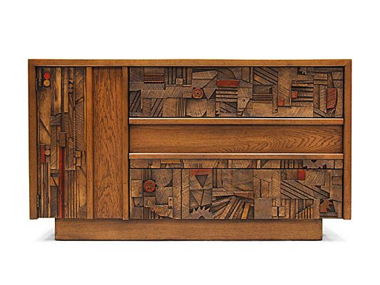 1970's American Walnut & Oak Sideboard by Lane Furniture, USA.