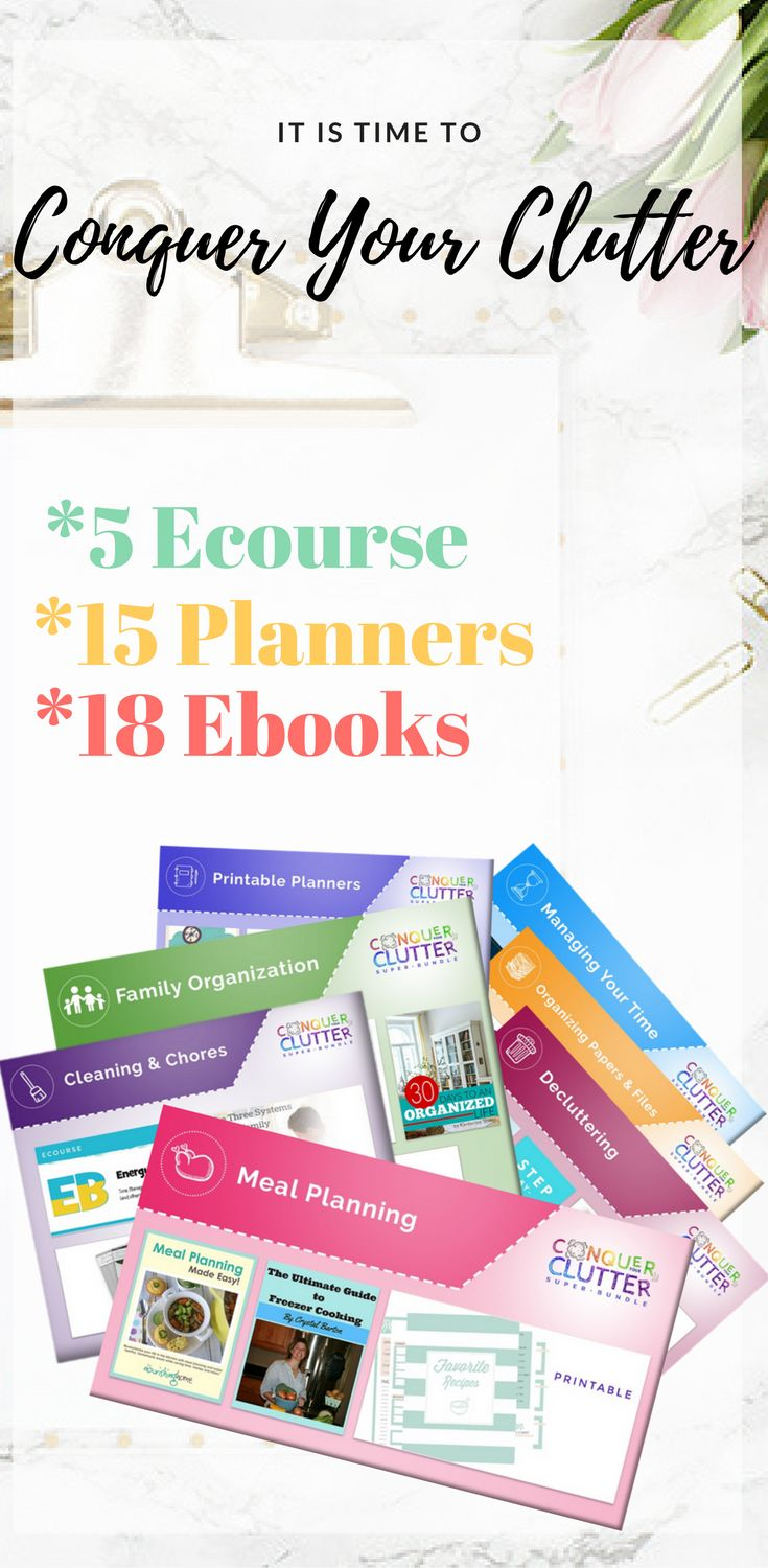 Amazing resources for getting organized and feeling less stressed. This did help me conquer my clutter problem. I also love the meal planning, feeling less stressed now in that matter. The most amazing thing is that there is limited 93% sale at the moment. Grab the bargin while you can!