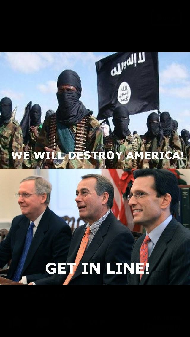 Sorry....they've done it already...and now, they want to use the shutdown to impeach Obama...idiots!