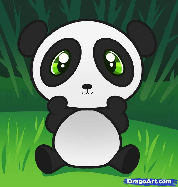 Cute Cartoon Pandas With Big Eyes To Draw How to draw a ...