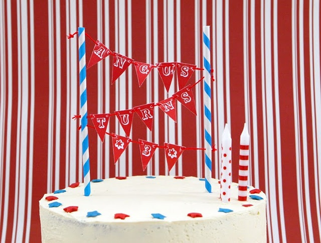 free printable mini cake bunting . . . in bolds, brights and pastels!