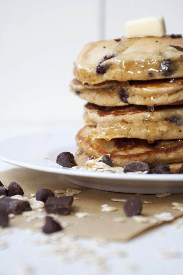 Peanut Butter Oatmeal Pancakes | @cupcakeMAG