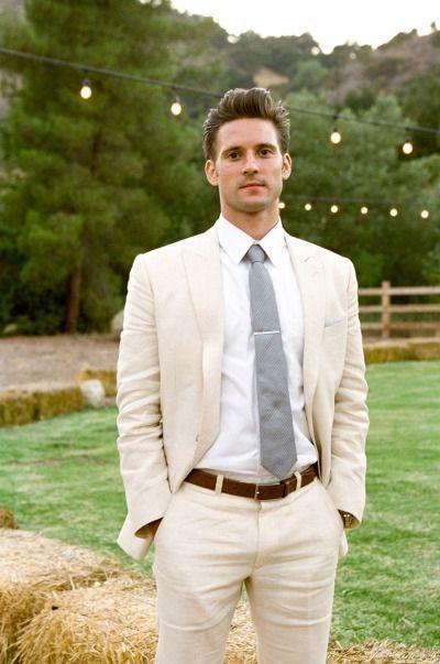 b24526842c5d 2017 Latest Coat Pant Designs Ivory Champagne Linen Suits Men Skinny  Wedding Summer Beach Simple Tuxedo Custom 2 Piece Terno OE4   WeddingIdeasForMen