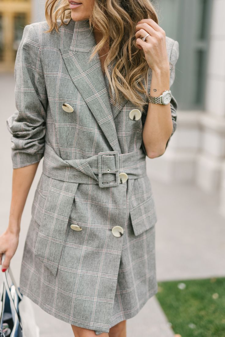 Obsessed with this 80's inspired plaid dress