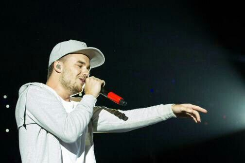 Liam on stage at the FNB Stadium in Johannesburg, South Africa - 03/28/15