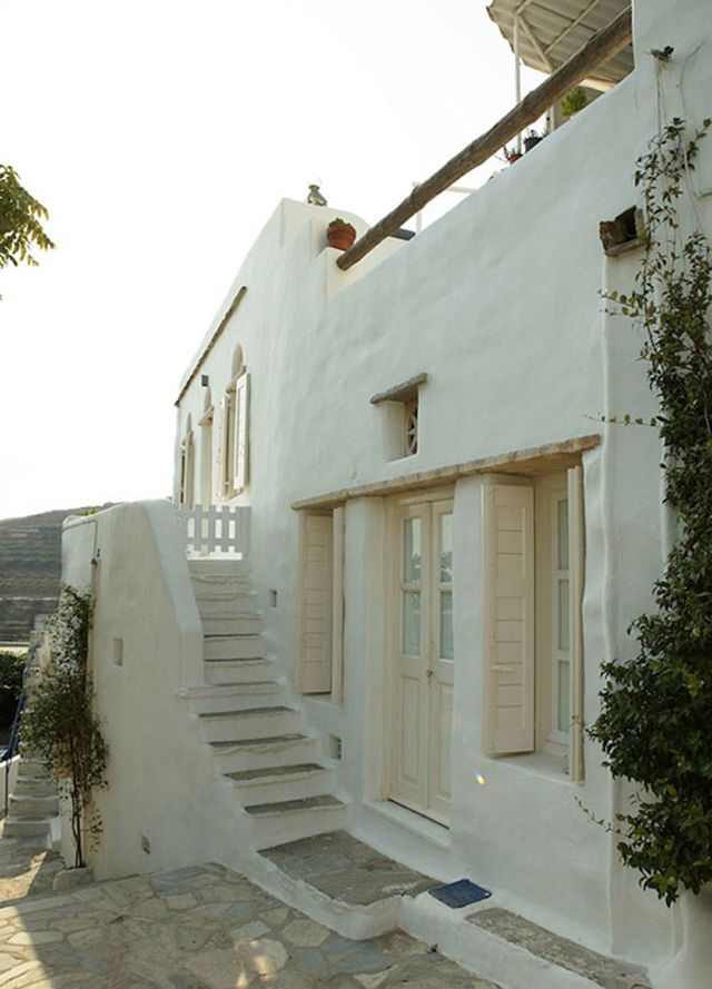 Greek home- has a stunning interior as well.