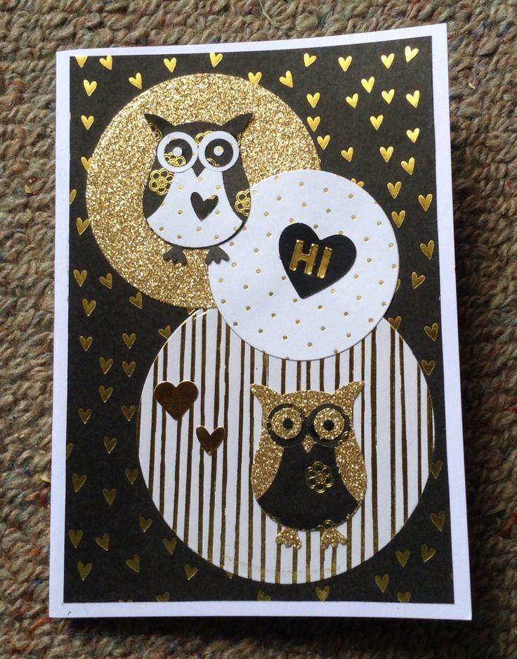 Owl Hi card :)) #owlpunch. February 2015