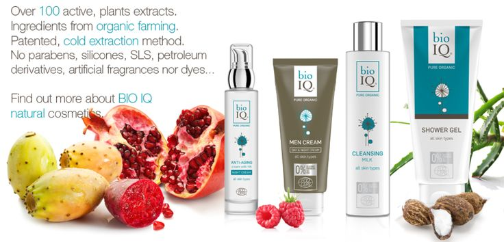 BIO IQ cosmetics contain over 100 carefully selected, active plant extracts, which retain their properties in cosmetics thanks to an innovative method of obtaining them which has been patented by our laboratory. We say NO to chemicals: Parabens, SLS, SLES, artificial frequencies and dyes, aluminium salts, PEGs, petroleum derivatives, silicones... We say YES to the NATURE!