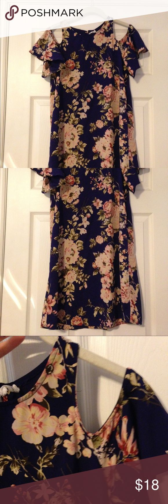 Nordstrom Navy cap sleeve dress xs From Nordstrom great condition Dresses Mini
