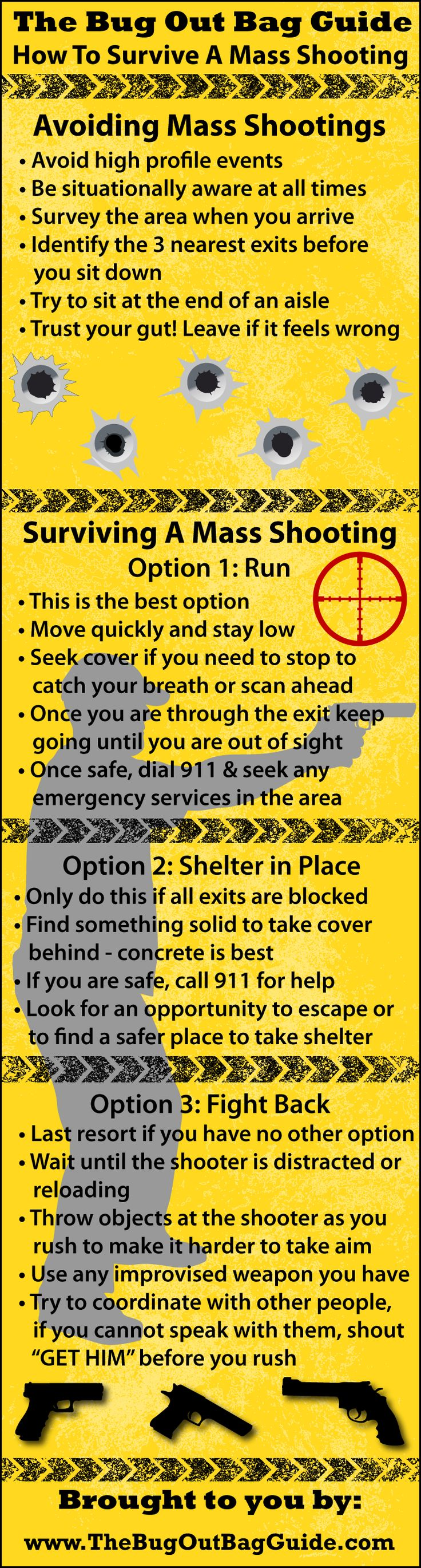 How to avoid Mass shooting situations and what to do to make sure YOU survive if you are caught in one!