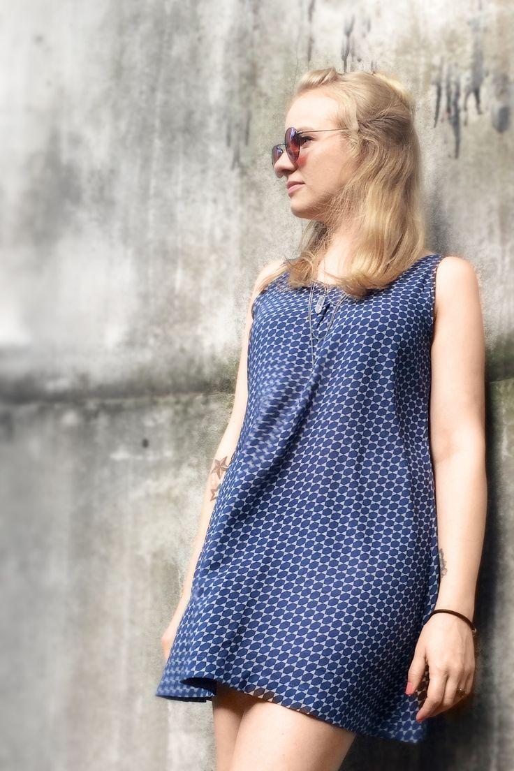 Sommerkleid oder Bluse im A-Schnitt mit Schnittmuster zum Download