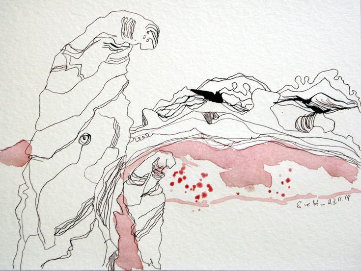 Austern Variationen (c) Zeichnung von Susanne Haun