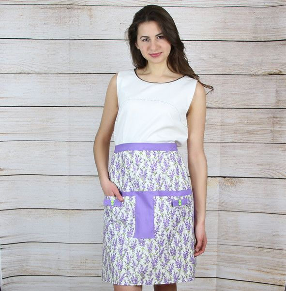 """Schürzen - Halbschürze mit Taschen """"Lavendel"""" - ein Designerstück von SirWilliams bei DaWanda"""