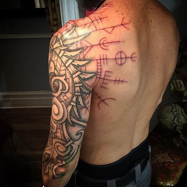 782 best images about tattoos and viking blood on for Norse tattoo sleeve