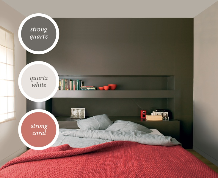 Rood Voor Slaapkamer : Bed room with strong coral blanketsCoral Blankets, Coral Bedrooms