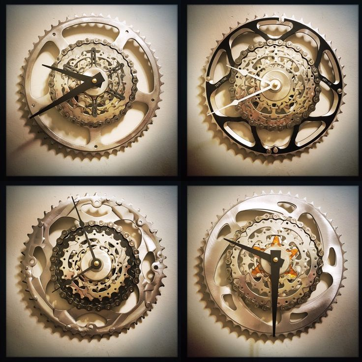the many faces of a Dream Great Dreams Bike Gear Wall Clock. steampunk. elegant. industrial. original.