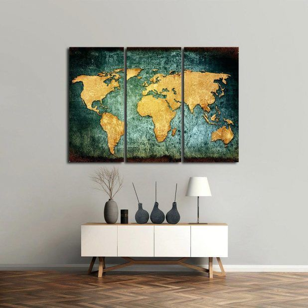 metal wall art world map wall art world map diy vinyl wall art world map