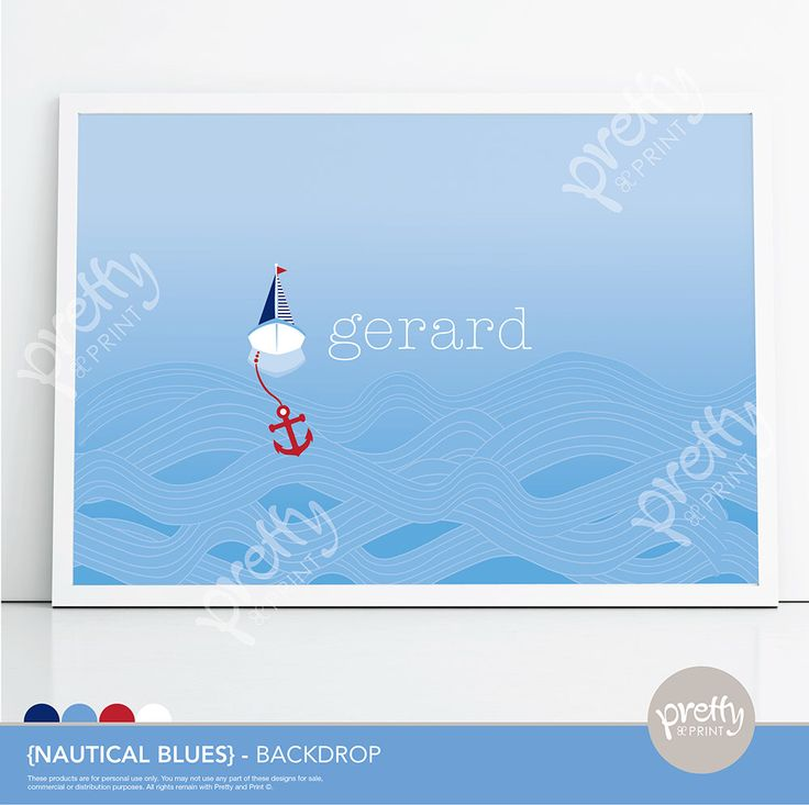Printable Dessert Table Party Backdrop Nautical Boy Sail Boat Water Christening www.prettyandprint.com/blog www.etsy.com/shop/prettyandprint